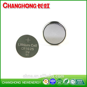 Changhong Hot Sale Coin Cell CR1625 3v 90Mah Lithium Battery