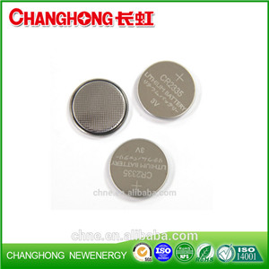 Changhong Hot Sale 3v Lithium Coin Cell CR2335 330Mah Lithium Battery