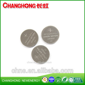 Changhong 3v Lithium Coin Cell CR3032 520Mah Battery