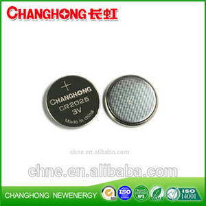 Changhong Lithium Coin Cell CR2025 3v 150Mah Use For Car Keys
