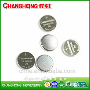 Changhong Hot Sale Cr2025 3v 150Mah Lithium Cell Battery Use For Car Keys