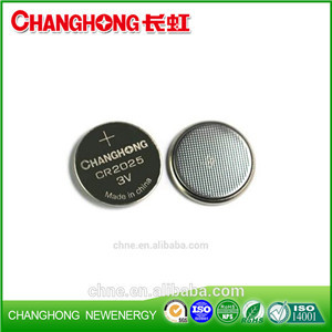 Changhong Hot Sale 3v Lithium Button Batteries CR2025 New Cr2025 3v 150Mah lithi