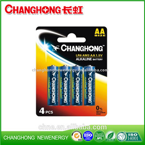 Changhong Alkaline Battery LR6 AA AM3 Hot Sale