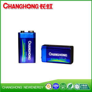 Changhong High Quality 6LR61 9V Ultra Alkaline Battery Dry Battery