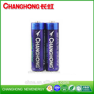 Super Power Alkaline Changhong Battery LR6 1.5v AA SGS High Capacity