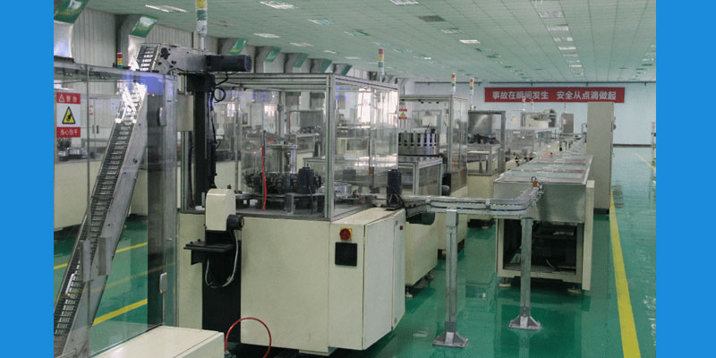 Production line of 9V battery